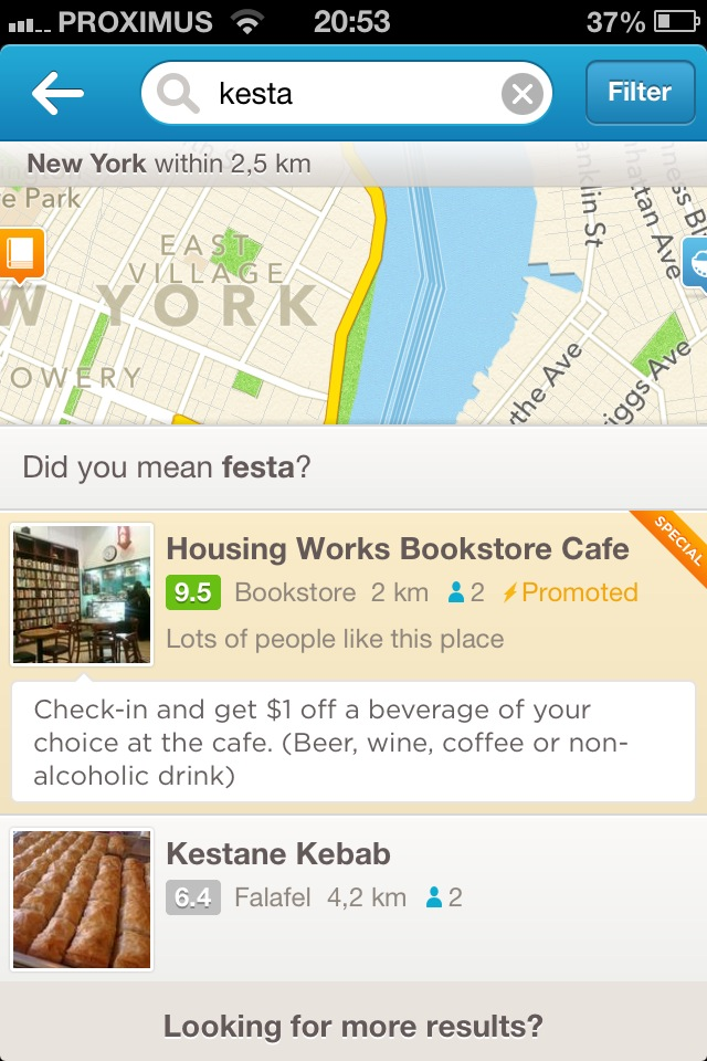 Foursquare Advertising Promoted Specials