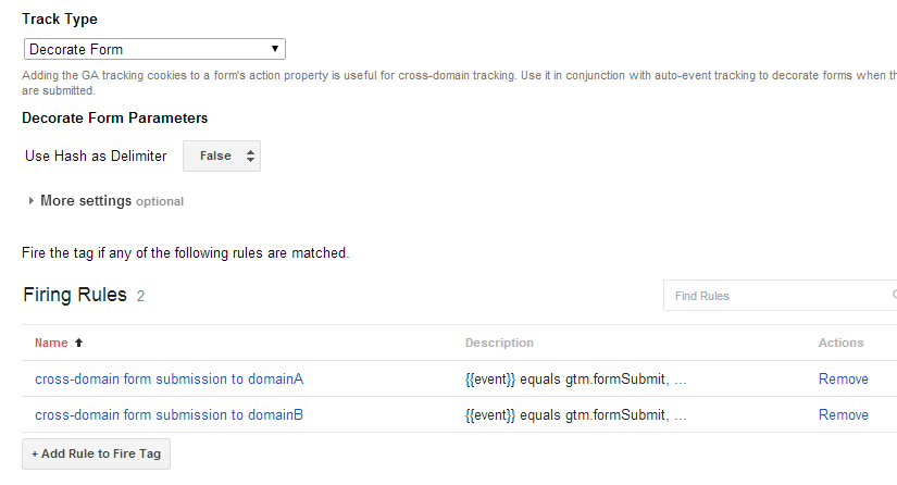 Google Tag Manager form decorator tag