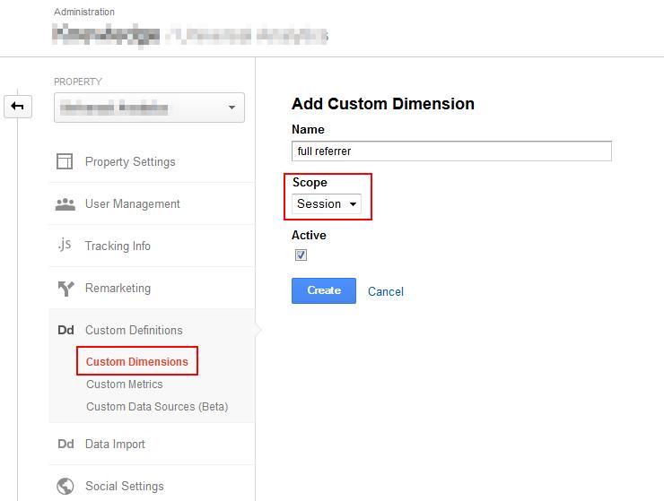 Universal Analytics- create custom dimension