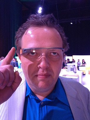 François Altwies testing Google Glass