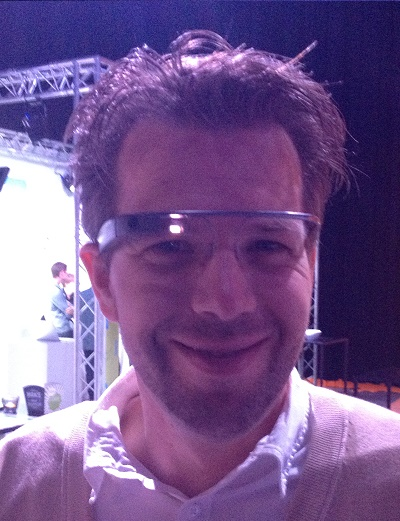 Wouter Schikhof testing Google Glass