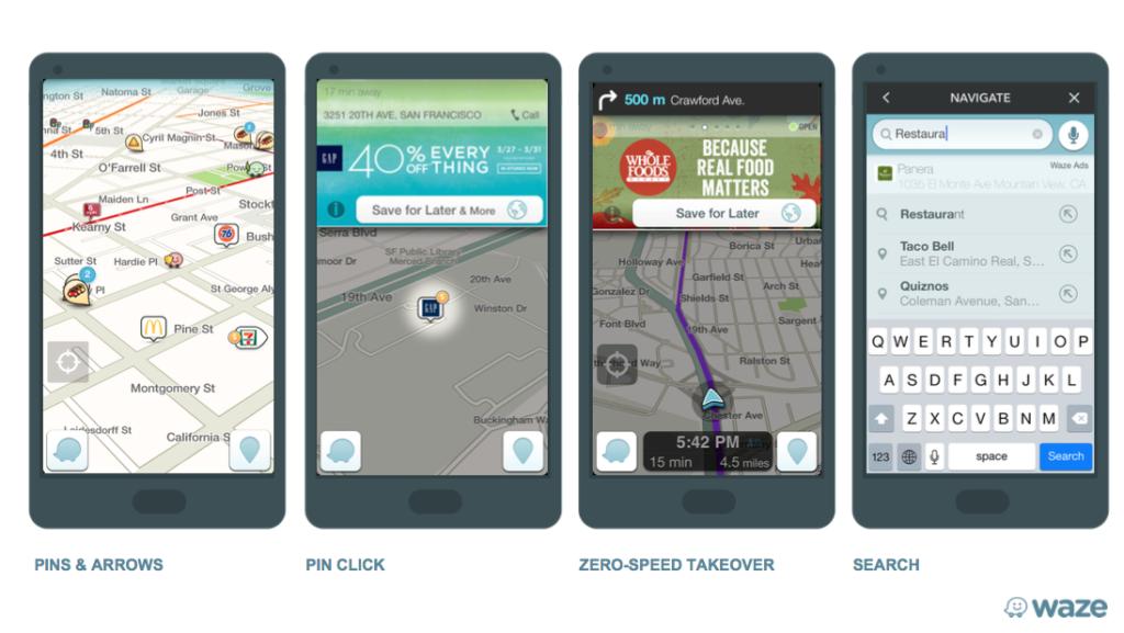 Les formats publicitaires sur Waze